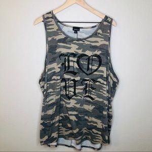 Torrid Size 3 LOVE Camo Knit Tank Top